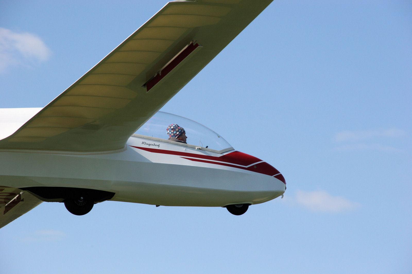 Schnupperfliegerin im Anflug