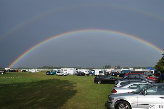 Wenigstens ein Regenbogen nach verkorkstem Tag (Foto : SFC Ulm)