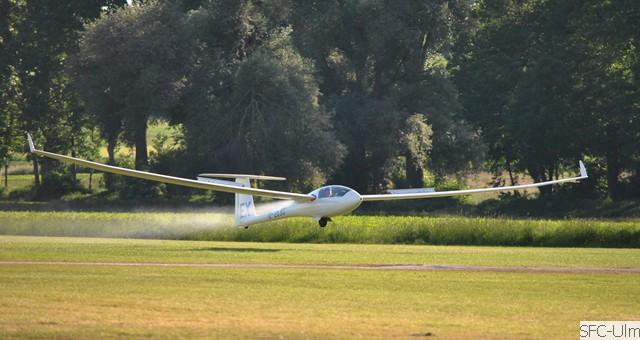 Landung mit Wasserlassen (Foto : SFC Ulm)