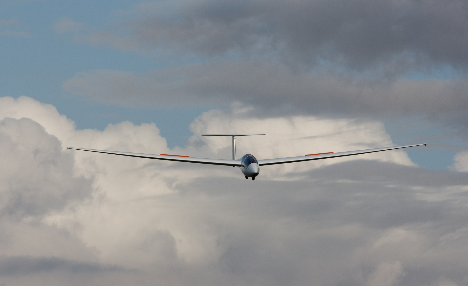 Die neue ASK-21 des SFC im Landeanflug