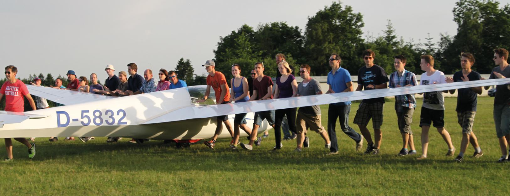 Segelfliegen ist Teamsport